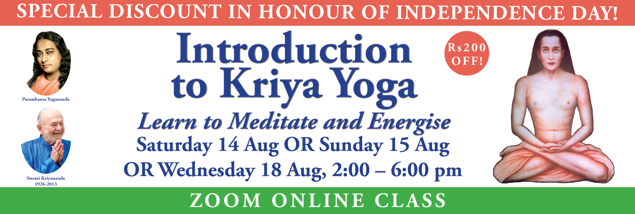 Learn to Meditate Aug_2021 Banner independence day web